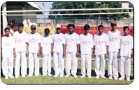Photograph of blind cricketers