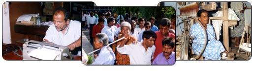 Photograph of the blind people